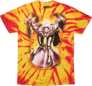 Silver Surfer Cosmic Tie Dye T Shirt - Mean-Tees.com