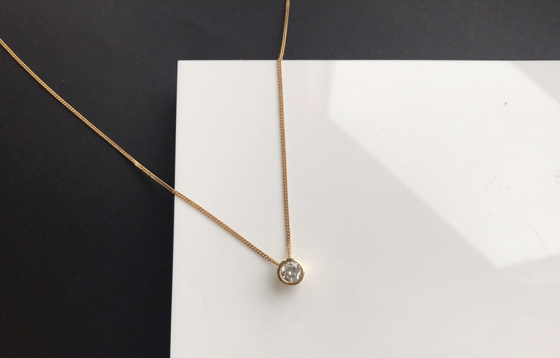 ethical gold and diamond necklace