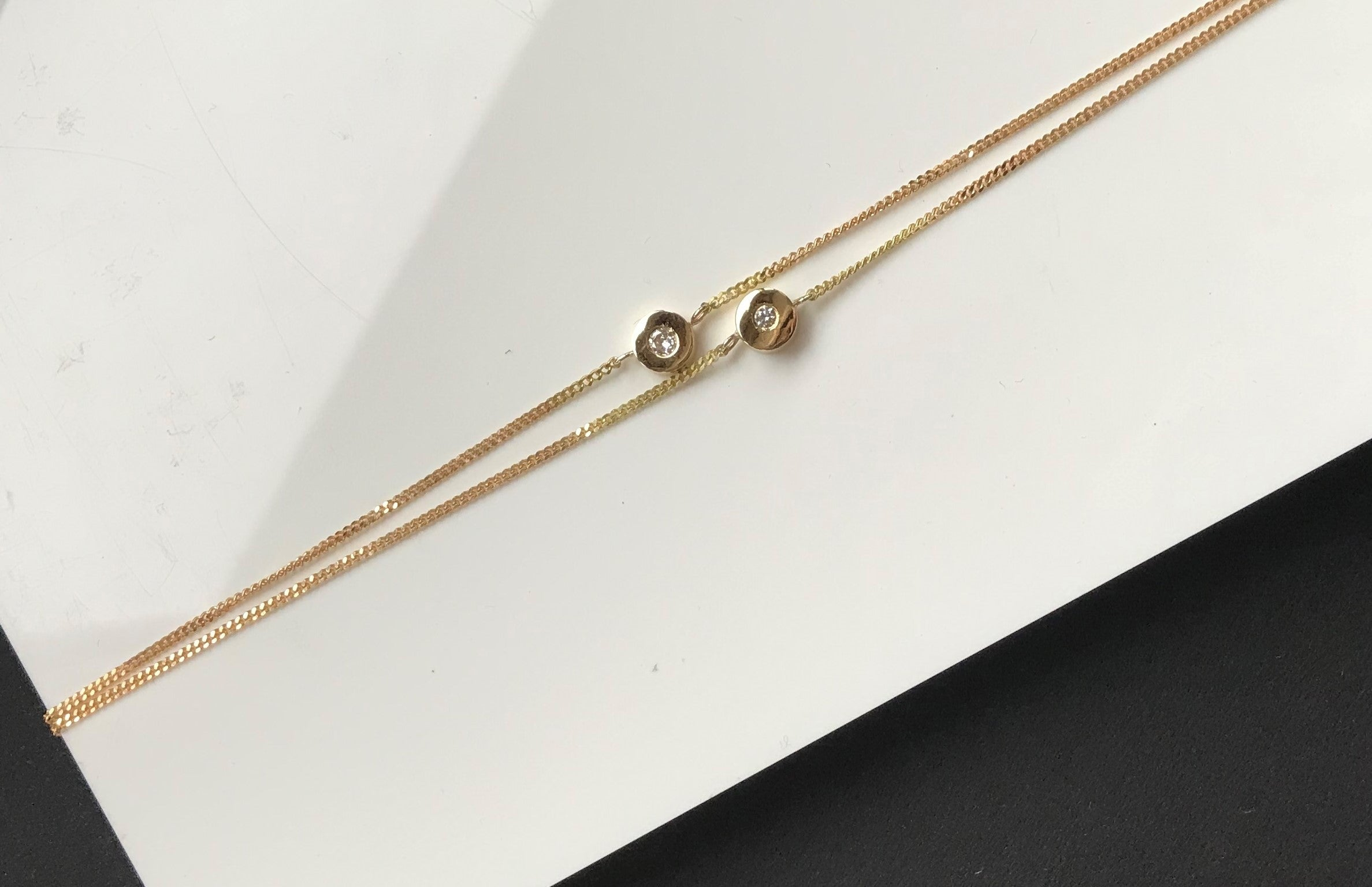 bespoke recycled gold and diamond bracelet