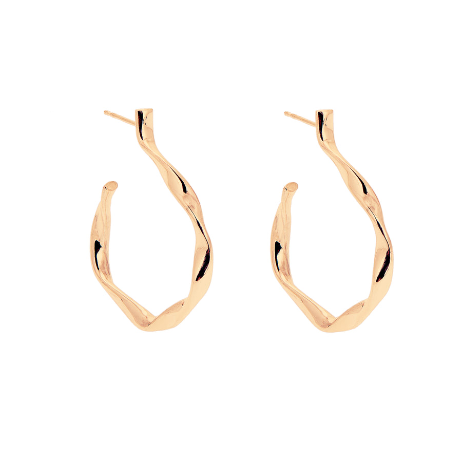 LOKA TWISTED HOOP EARRINGS GOLD