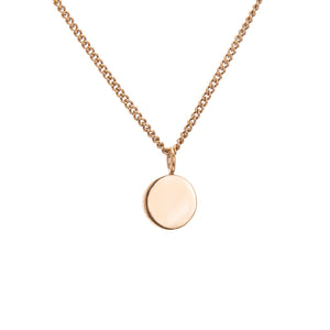 AMATI GOLD SMALL DISC NECKLACE
