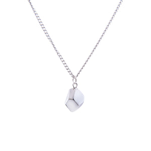 MANI HALF FACETED CHARM NECKLACE