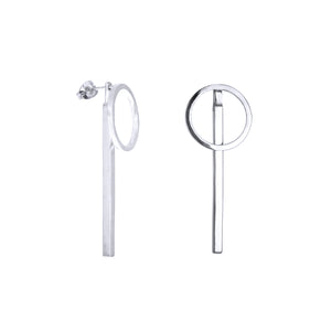 AMATI SILVER 2 WAY EARRING WITH BAR