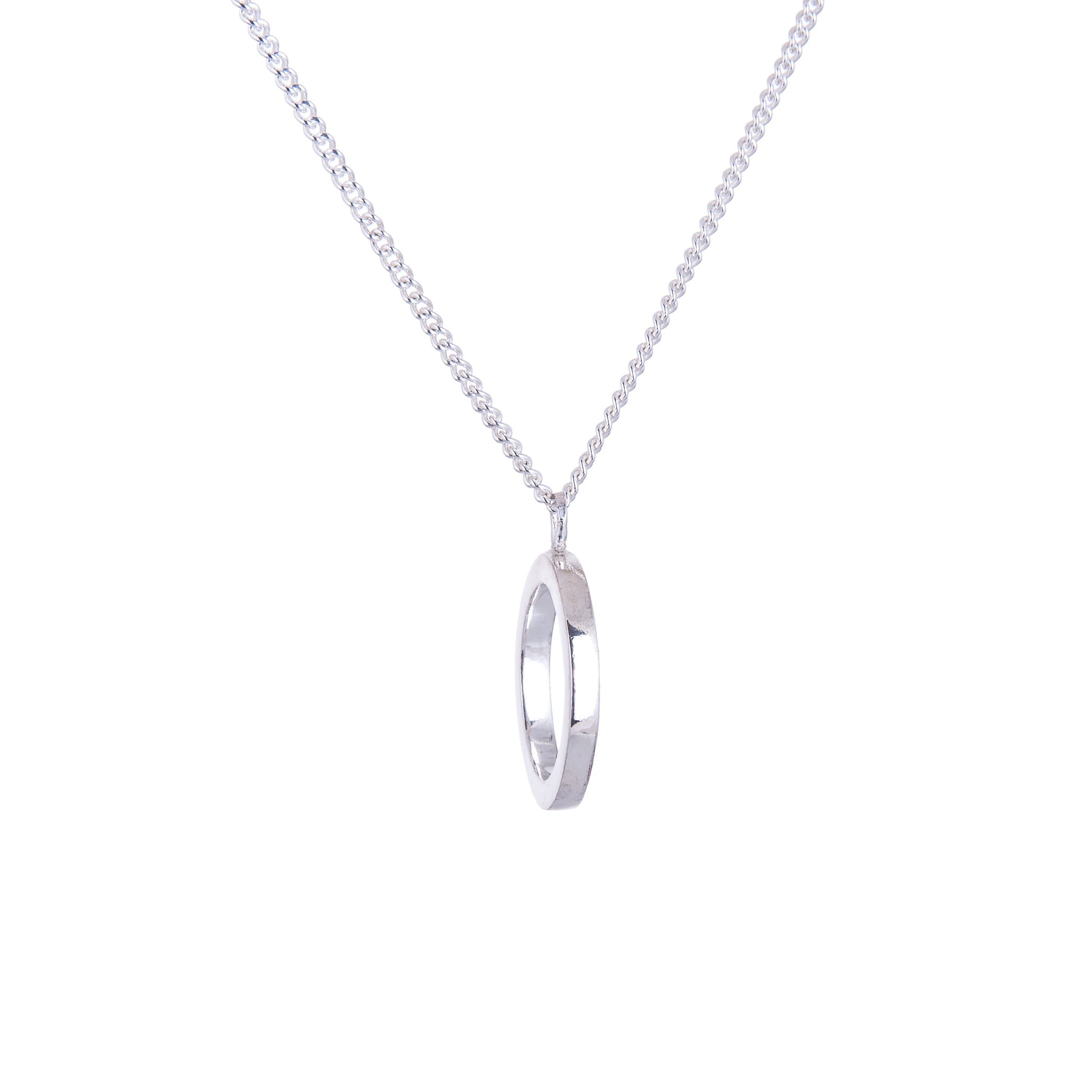 AMATI NEGATIVE DISC NECKLACE
