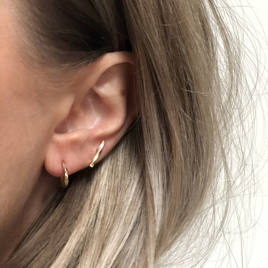 LOKA Gold Twisted Post Earrings