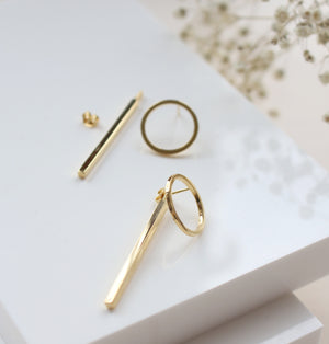 AMATI 2 WAY EARRING WITH BAR