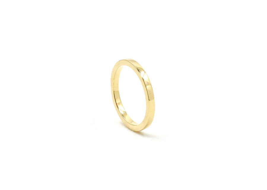 Flat Edge Wedding Band 2mm