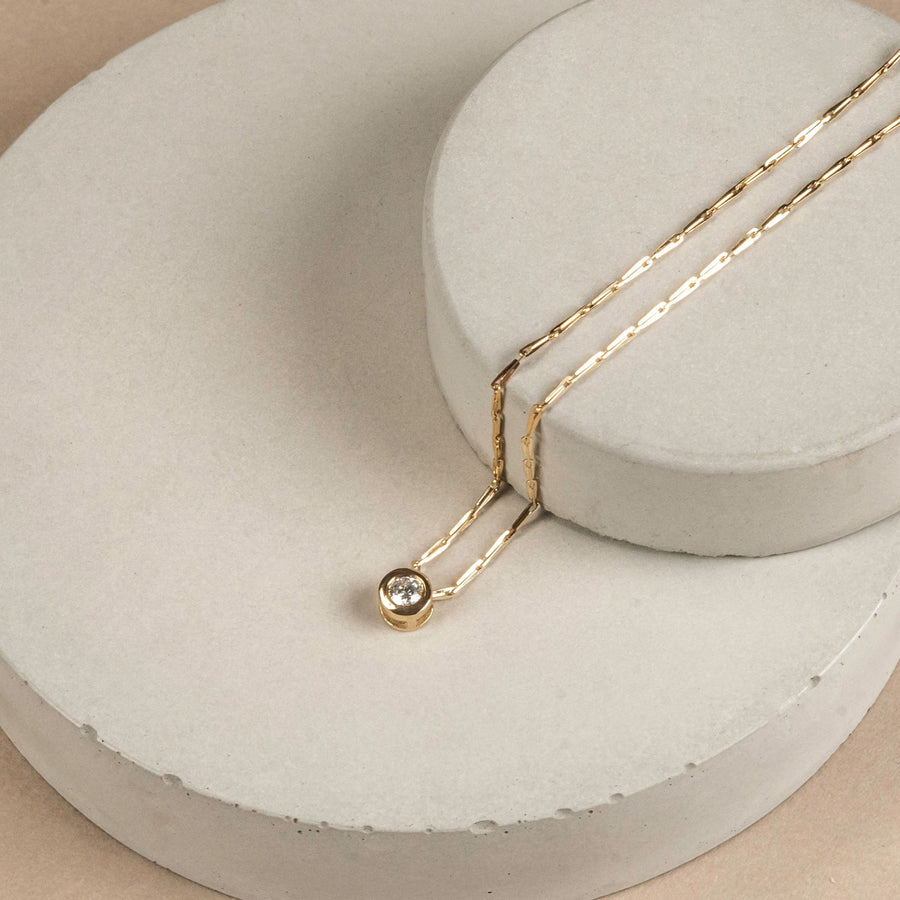 fairmined gold diamond necklace