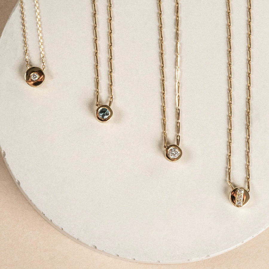 ADARA DISC NECKLACE SINGLE DIAMOND