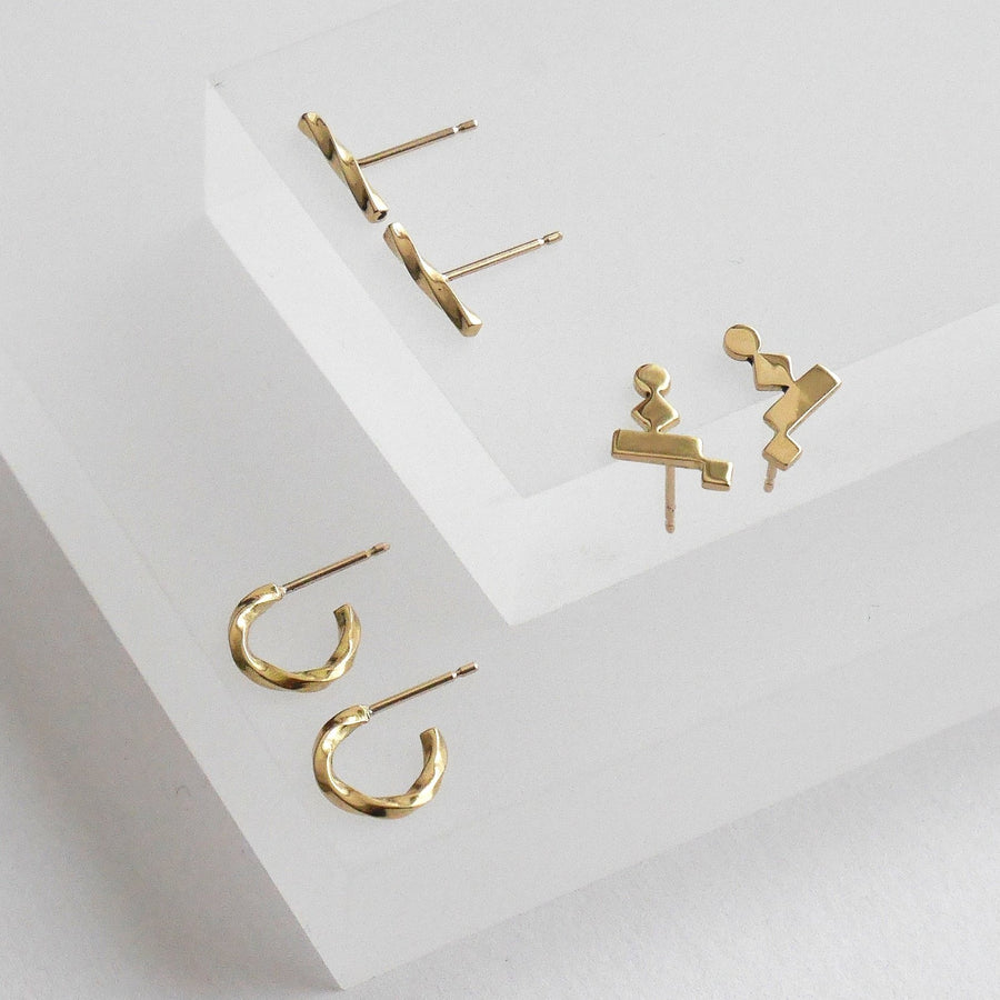 KOTI gold crawler earrings