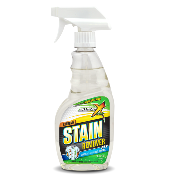 Tackle Tough Stains! Sweat X Sport Stain Remover Spray.