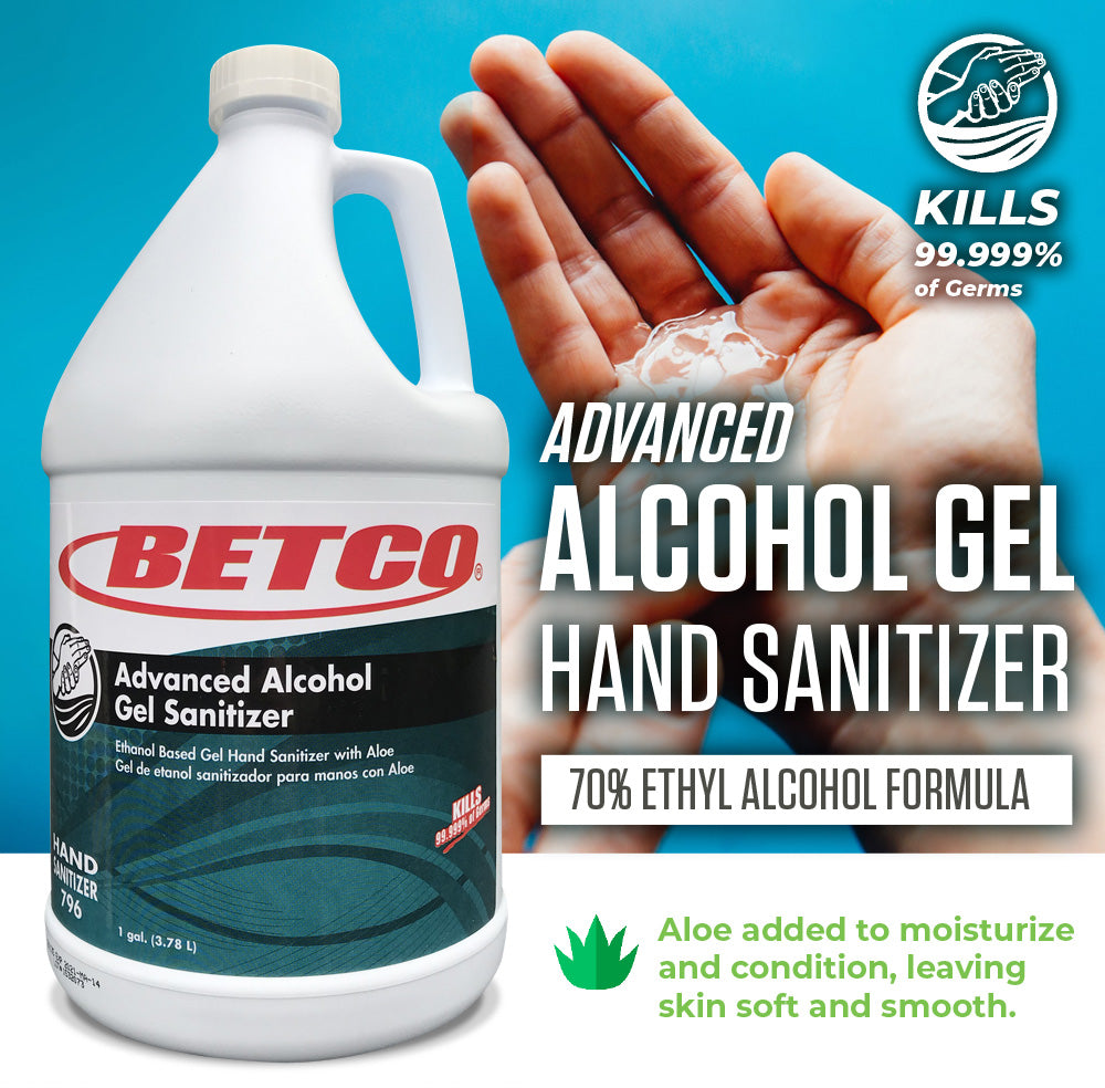 Advanced Alcohol Gel Hand Sanitizer - 1 Gallon (Case of 4)