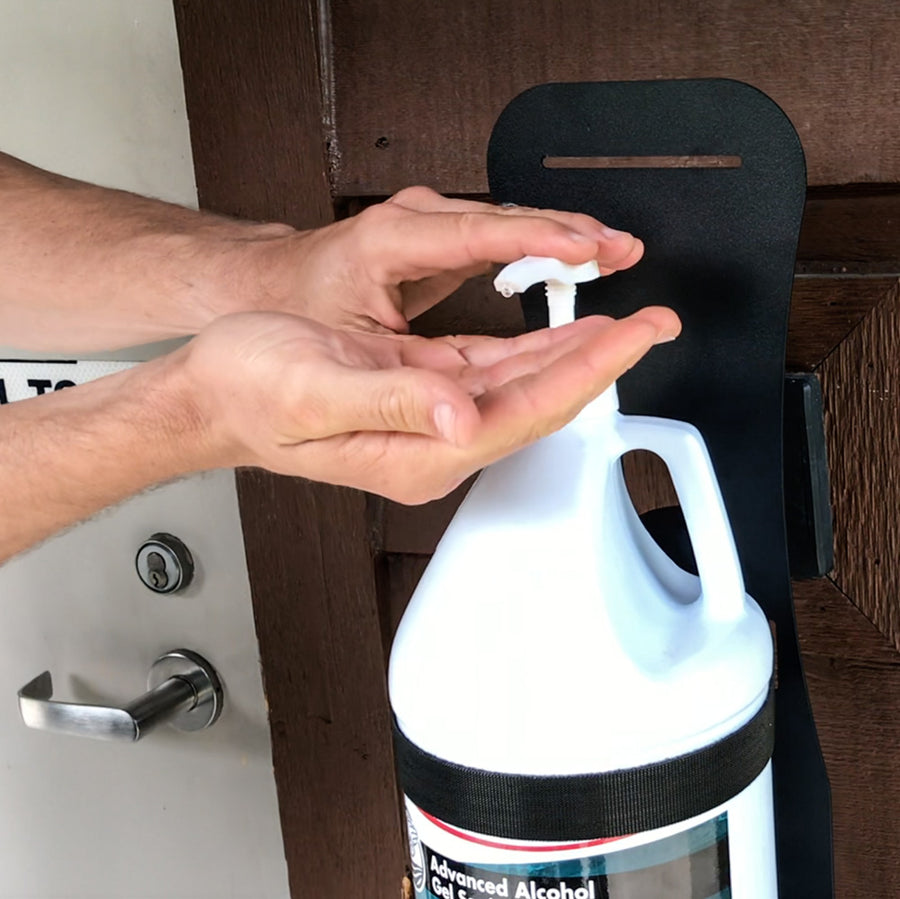 HAND SANITIZER STAND FOR 1 GALLON JUG (STANDARD OR HEAVY DUTY BASE)