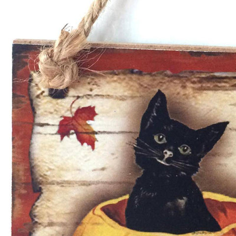 Image of Happy Halloween Hanging Wooden Sign