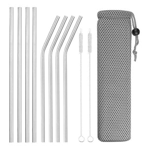 Reusable Stainless Steel Drinking Straws 8Pcs