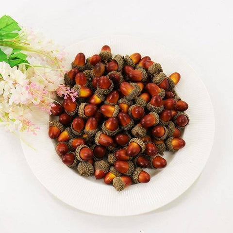 Image of 20pcs Artificial Acorns