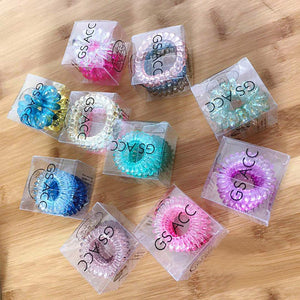 3Pcs Rubber Elastic Hair Ties