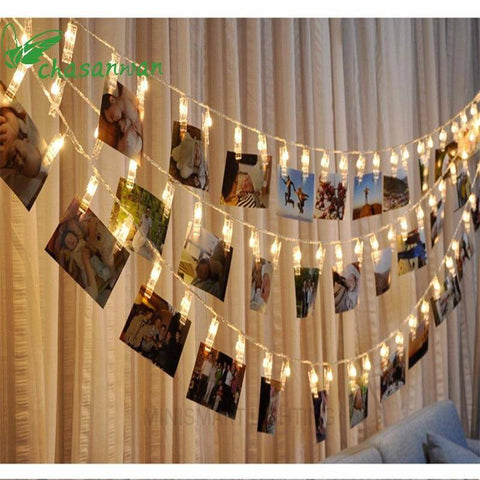 20 LED Photo Clip Lights
