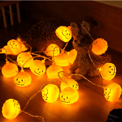 10 LED Pumpkin Lights