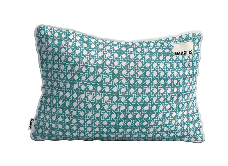 Coussin CANNAGE Emeraude 40x60 cm