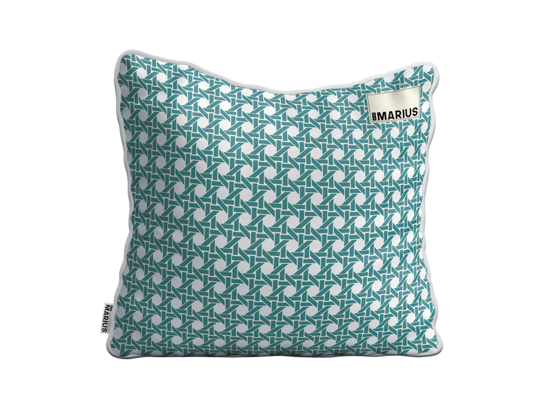 Coussin CANNAGE Emeraude 45x45 cm