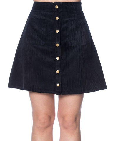 Erika Cord Skirt - Navy