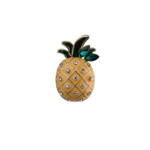 Pinapple Diamante Brooch