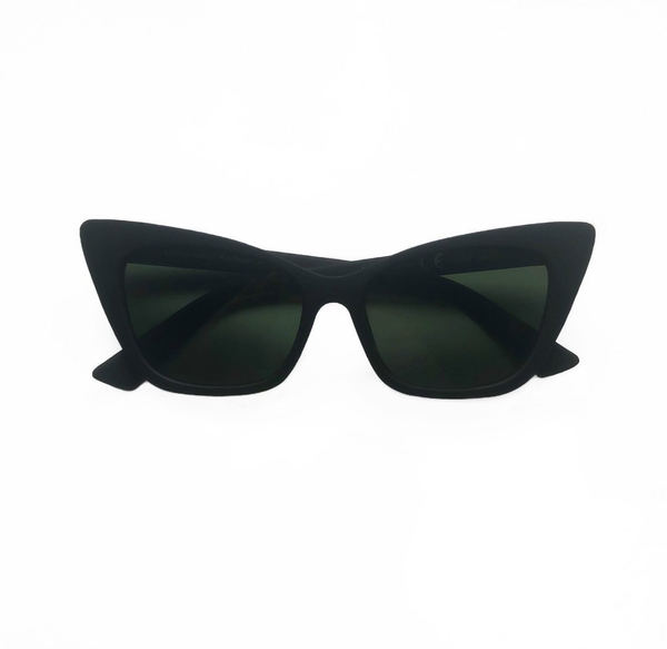 Selma Cat Eye Sunglasses - Matte Black