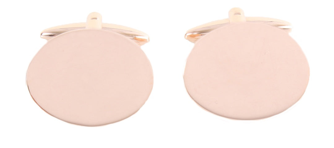 Rose Gold Plated Oval Cufflinks