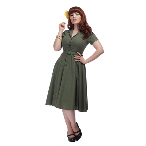 Caterina Swing Dress - Green Was £69 Now £60