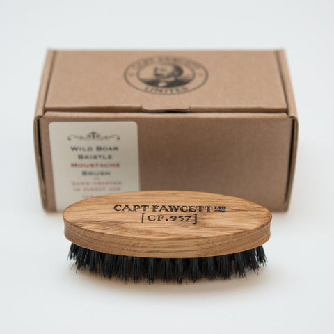 Wild Boar Bristle Moustache Brush - Bowler Vintage