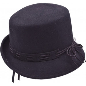 Wool Hat - Lacing detail - Bowler Vintage