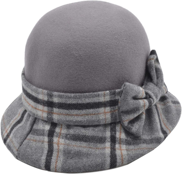 Cloche Check with Bow