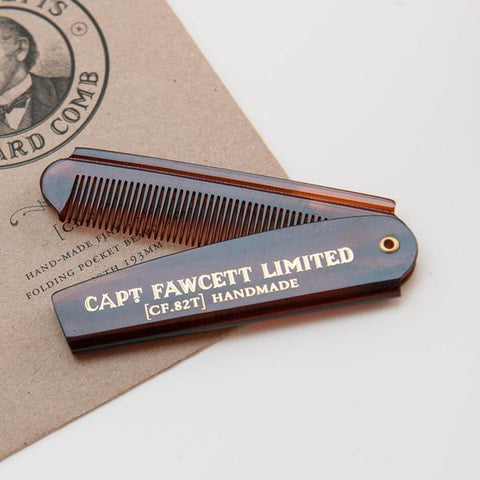 Folding Pocket Beard Comb - Bowler Vintage