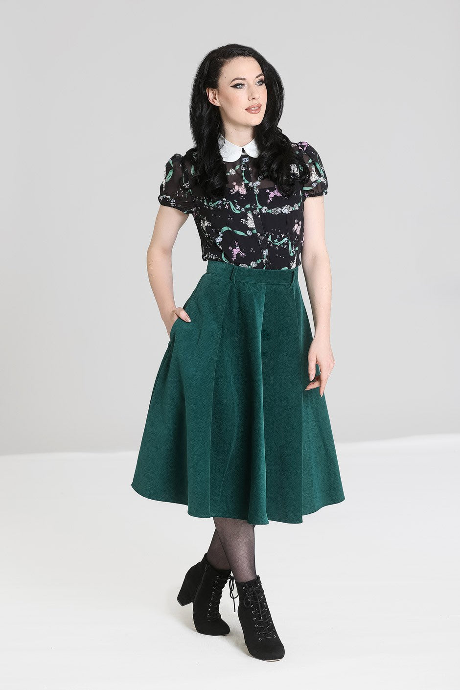 Jefferson Skirt - Green - Bowler Vintage