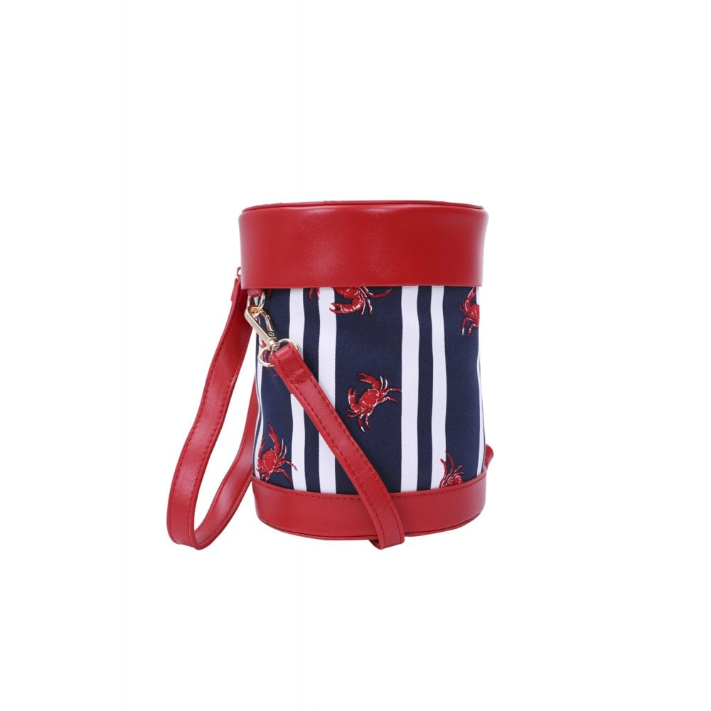 Lara Crabs and Stripes Bag - Bowler Vintage