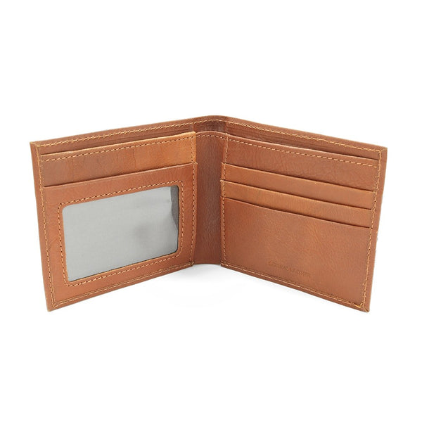 RFID Tan Leather Wallet
