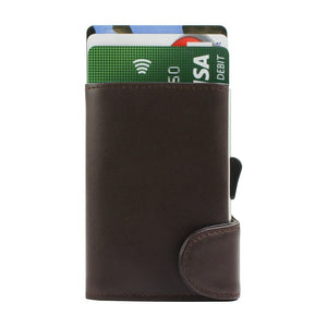 Brown Leather Card Holder RFID
