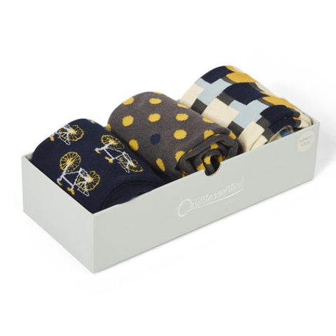 Men's Bike Sock Box - Navy
