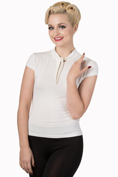 Free Ride Bow Top - Ivory