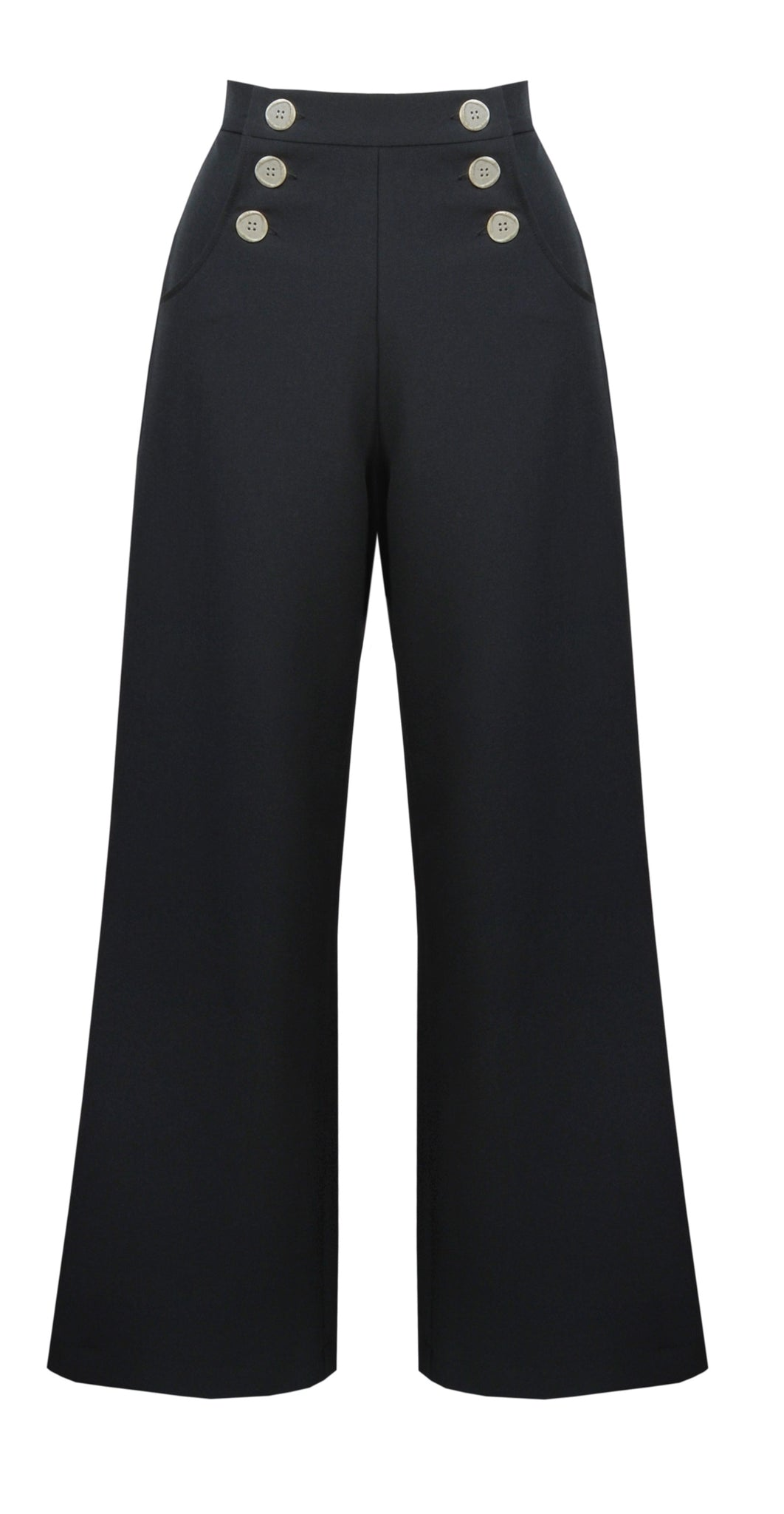 Retro Sailor Slacks - Black - Bowler Vintage
