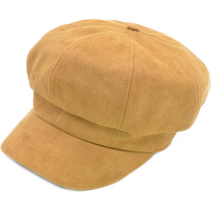 FAUX SUEDE NEWSBOY HAT
