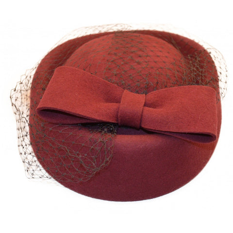 Felt Pillbox Hat - Bowler Vintage