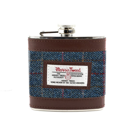 Allasdale Harris Tweed Hip Flask