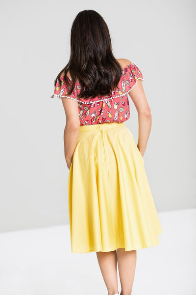 Paula 50's Skirt - Lemon
