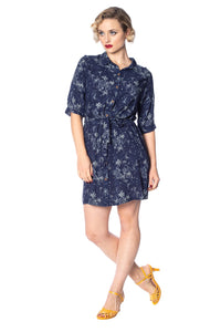 Santorini Dreams Relaxed Shirt Dress