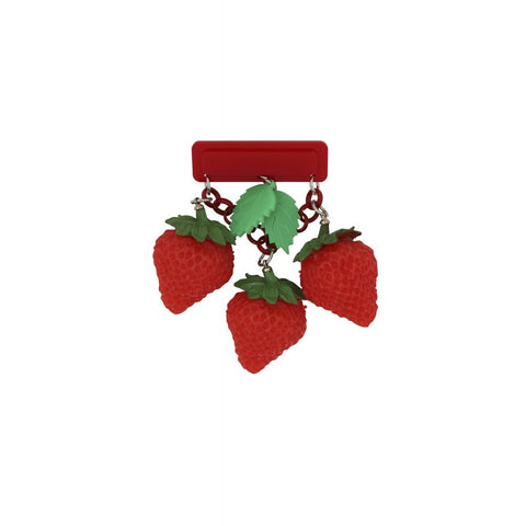 LILY 40S STRAWBERRY BROOCH