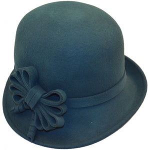 Curly Ribbon Wool Cloche