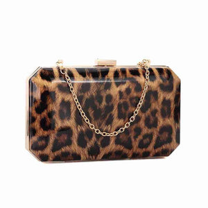Animal Print Clutch - Leopard
