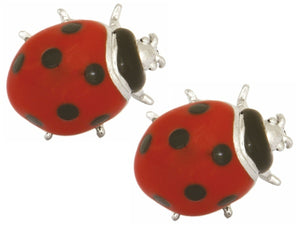 Ladybird Rhodium Plated cufflinks